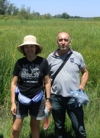 Researchers Carmen Michán and José Alhama during the field work